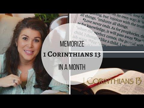 Memorize in a Month – 1 Corinthians 13